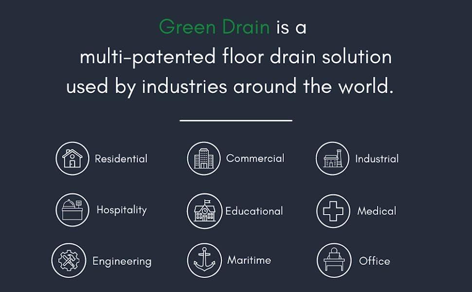 green drain, drain, floor drain, shower drain, drain plug, floor plug