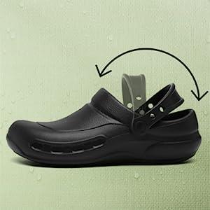 Unisex Chef Nurse Mens Shoes non slip Waterproof Oil Resistant Nursing Shoes Garden Shoes
