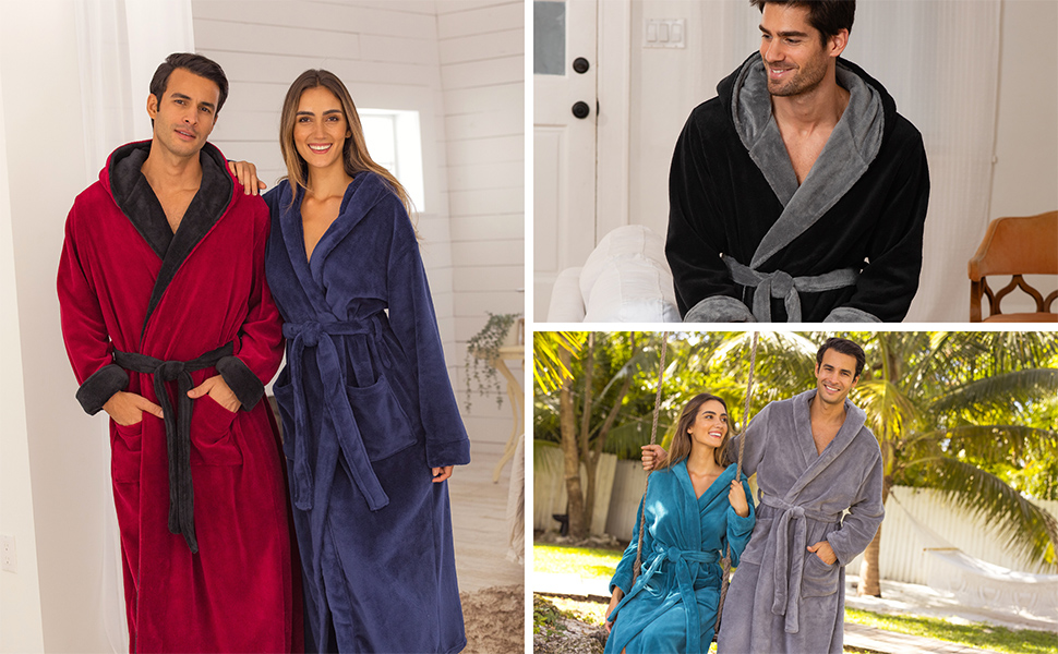comfortable and soft mens robe