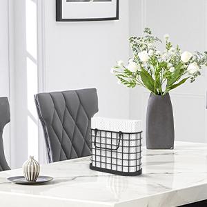black metal napkin holder dining table