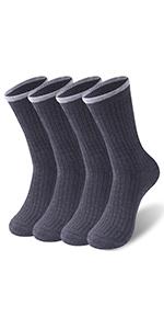 Mens Dress Socks Calf Slipper Thick Crew Skiing Socks Athletic Socks