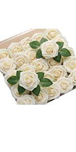 DerBlue 30pcs Artificial Roses Flowers