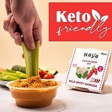 keto snacks low carb hummus sugar free dips vegan gluten free organic