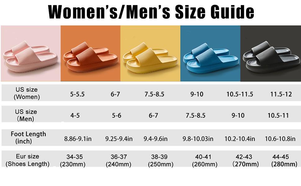 women's men's size guide