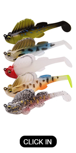 Pre-Rigged Soft Fishing Lures