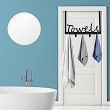 bathroom towel rack over the door hook
