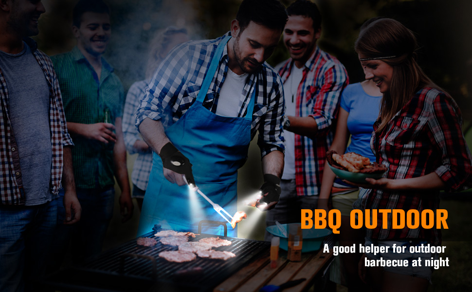 LED flashlight gloves - A good helper for outdoor barbecue at night