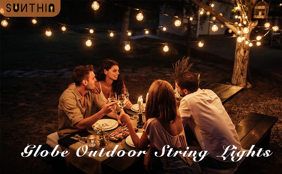 sunthin globe string lights outdoor