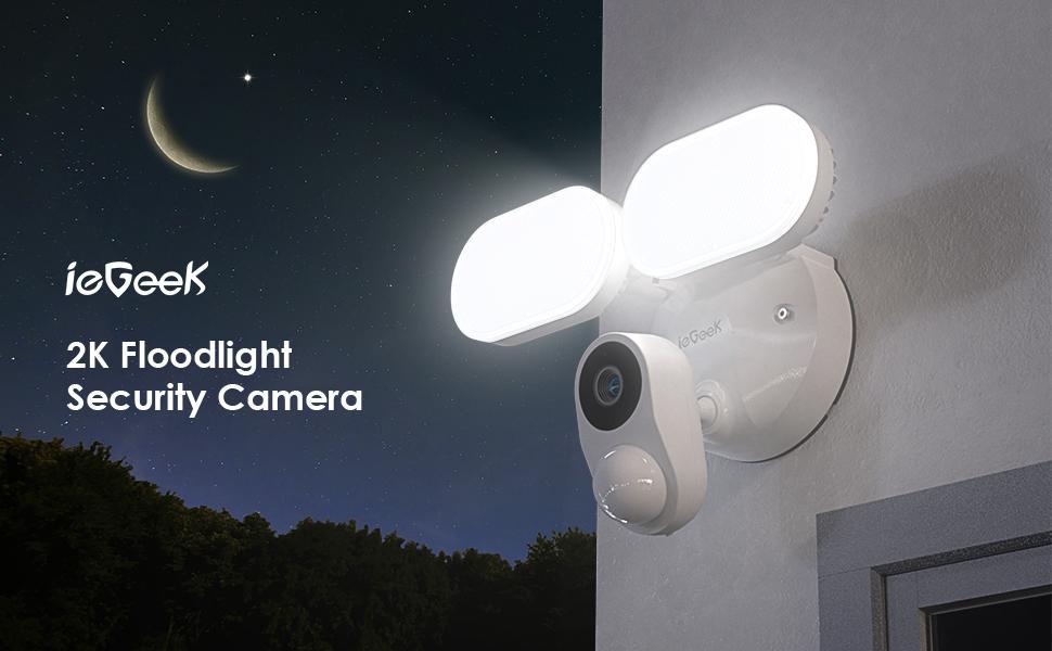 iegeek floodlight camera outdoor wireless