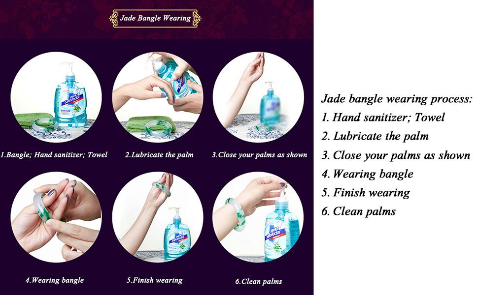 Jade bangle wearing process
