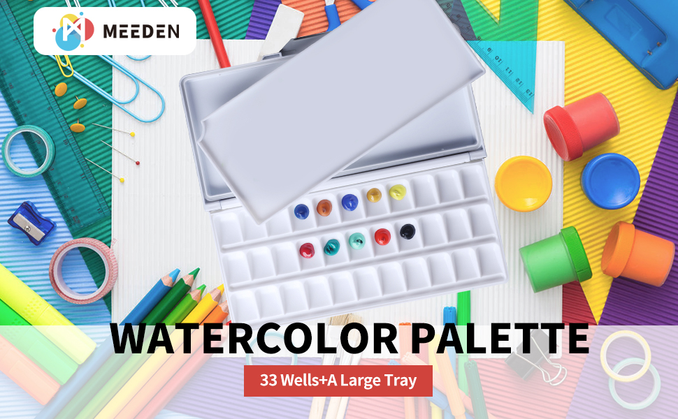 white Airtight Leakproof Watercolor Palette