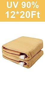 shade cloth 90% 12X20FT