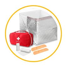AMZ Metalized Double Layer Box Liners Insulated Food Delivery Perishable Box Frozen Packaging AMZ
