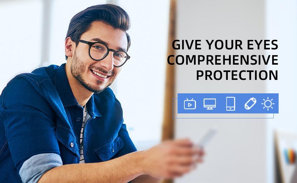 blue light glasses for men women computer readers spring hinge gaming glasses reading glasses