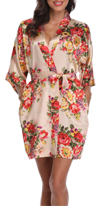 women floral robe
