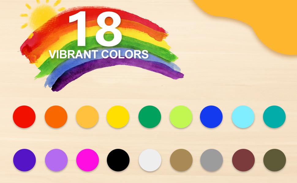 18 colors acrylic paint pens set
