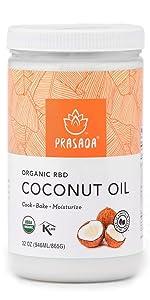32oz Organic Refined Coconut Oil