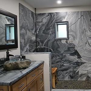 Stone Coat Countertops Finished Epoxy Shower