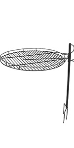 Sunnydaze Height Adjustable Fire Pit Cooking Grate - 24-Inch