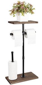 freestanding toilet paper rack