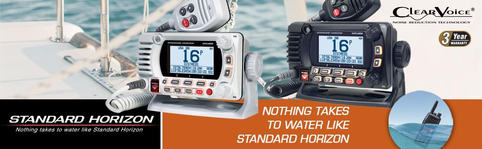 GX1800G Series VHF, Basic, w/GPS, White, Black, Standard Horizon