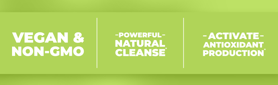 Humanx - NON-GMO and Vegan, Powerful natural cleanse, Activate antioxidant production