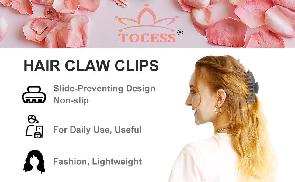 Grey hair claw clips