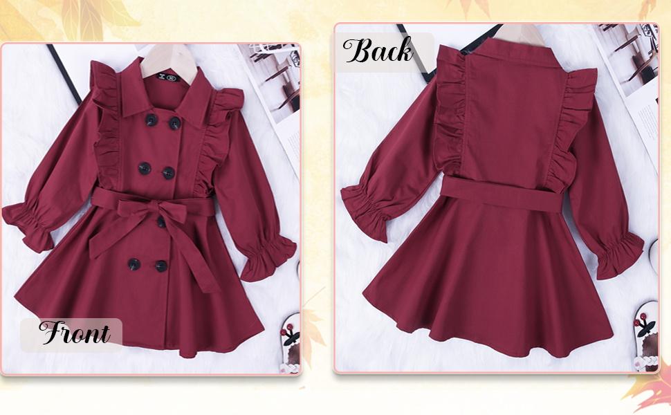toddler baby girl trench coat