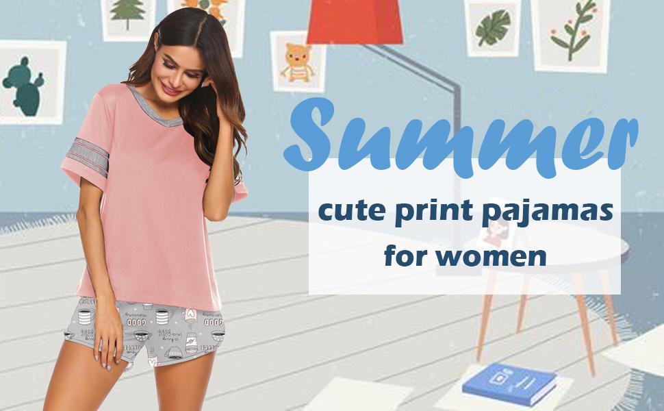 ekouaer womens short pajama set sleepwear