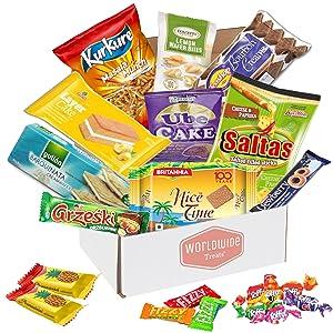 international snacks mix food from around the world