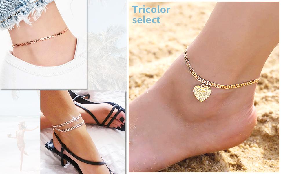 gold anklet for women