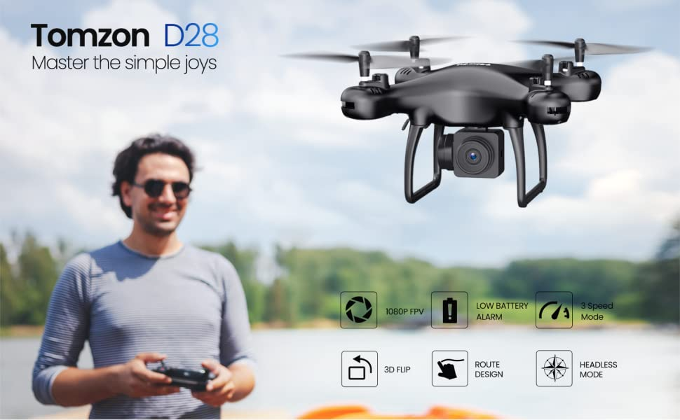 tomzon D28 drone with camera for beginner kids adults