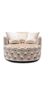 Modern Akili Swivel Barrel Chair Swivel Accent Sofa Barrel Chairs Round Barrel Chair Living Room