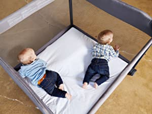 Room2 playard spacious playard playpen twins for two babies