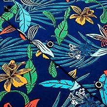 Mens Floral Regular Fit Long Sleeve Casual Button Down Dress Shirt