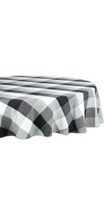 Tri Color Round Tablecloth