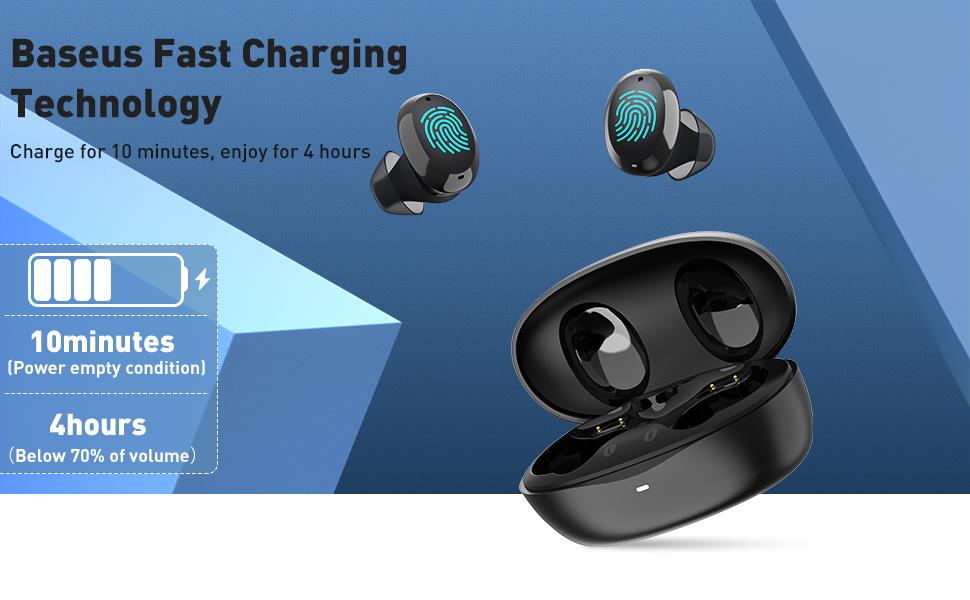 Baseus W11 Wireless erabuds with fast charging technology