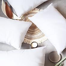 pillows on the floor