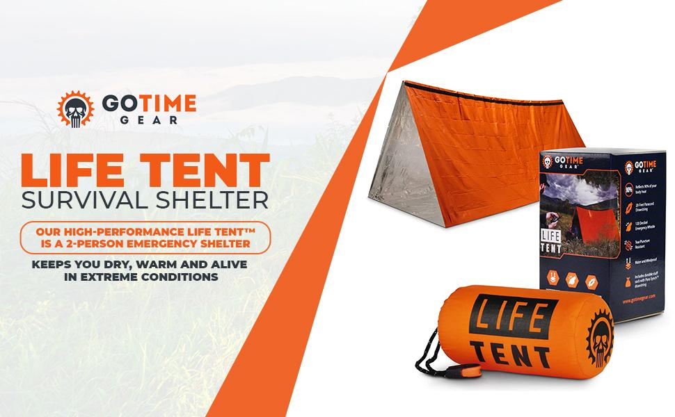 Heavy-duty waterproof and windproof survival tube tent
