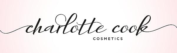 Charlotte Cook Cosmetics - black logo over pink background
