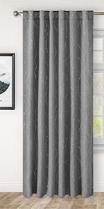Homeideas Blackout Foil Printed Curtains