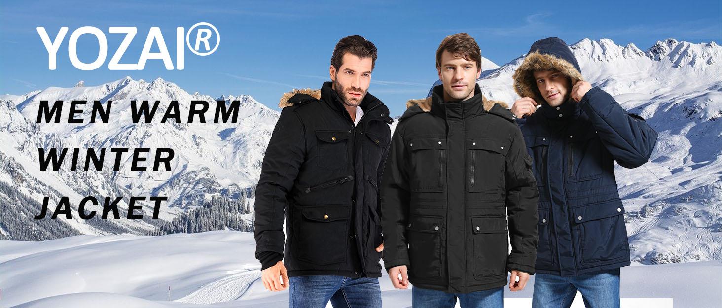 Yozai men warm winter jackets