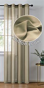 chiffon sheer curtains