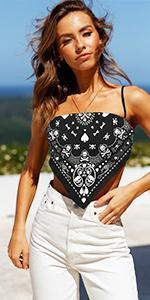 Women V Neck Strapless Sleeveless Off Shoulder Crop Top Bustier
