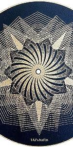 Black Psychedelic Light Art