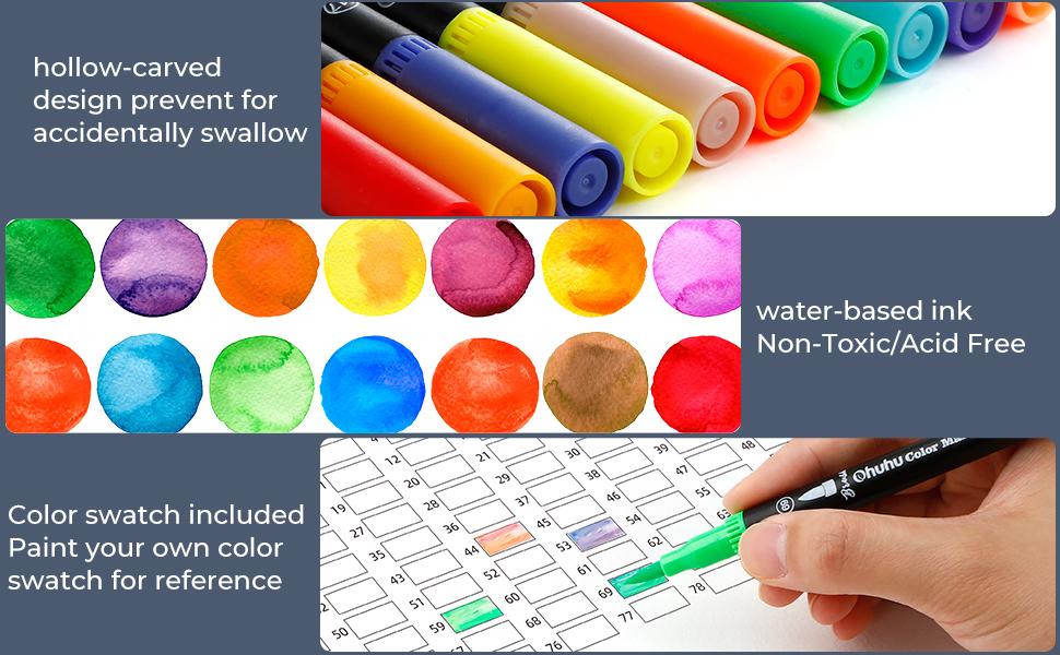 100 stylos de couleur