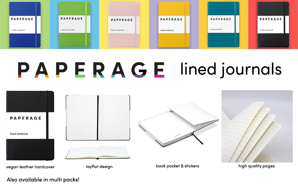 Paperage lined journals