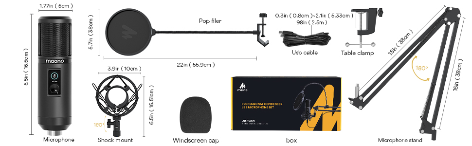 microphone with gain