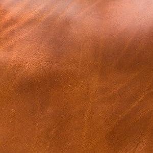 cognac leather swarch