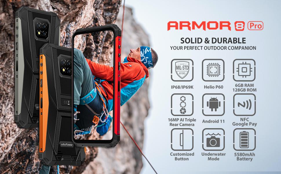 Ulefone Armor 8 Pro rugged smartphone